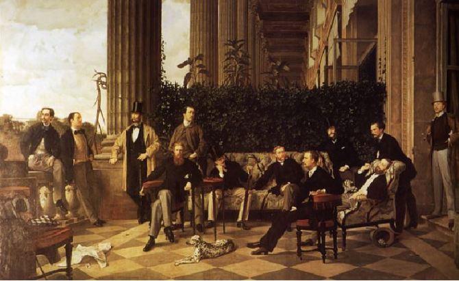 Le Cercle de la rue Royale by Tissot.