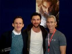 Adam Brown, Aidan Turner and Jed Brophy. Sydney Supanova, June 2013