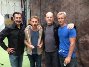 William Kircher, Dean O'Gorman, Peter Hambleton and Jed Brophy  Dunedin  March 2013
