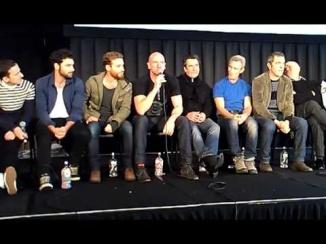 Hobbit cast on stage at Armageddon Wellington June, 2013