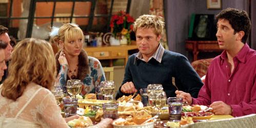 Brad Pitt at a Friends' Thanksgiving (2001)