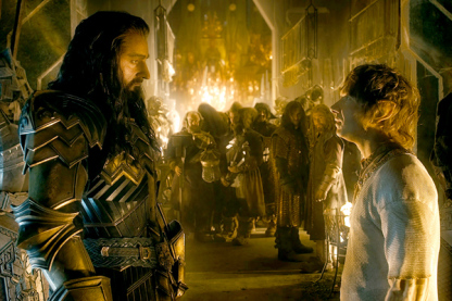 """Caption: (L-r) RICHARD ARMITAGE as Thorin and MARTIN FREEMAN as Bilbo in the fantasy adventure """"THE HOBBIT: THE BATTLE OF THE FIVE ARMIES,"""" a production of New Line Cinema and Metro-Goldwyn-Mayer Pictures (MGM), released by Warner Bros. Pictures and MGM."""