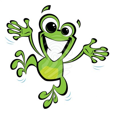 happy-cartoon-smiling-frog-jumping-excited-vector-91000038