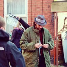 Richard Armitage as Chop rolls himself a cigarette. The first picture from the set, I believe, and one of my favorites.